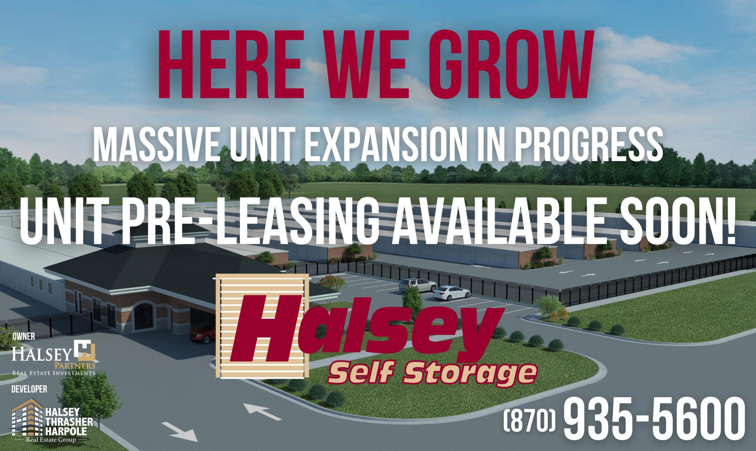 Halsey Self Storage Expansion 2020-2021